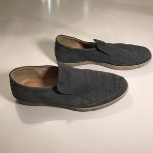 Ecco Leather Gray Loafers / Slip on